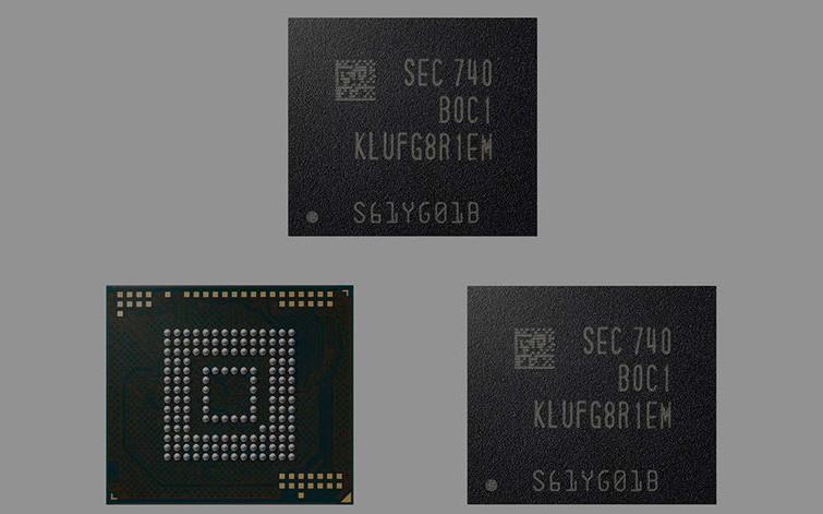 Samsung смартфонлар учун 512 Гб ли хотира чипларини ишлаб чиқарди